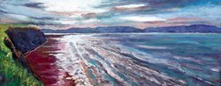 Cliffs and Surf by Timmy Mallett -  sized 30x12 inches. Available from Whitewall Galleries